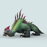 Fantasy Monster Lizard 3D Model