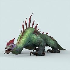 Fantasy Monster Lizard 3D Model