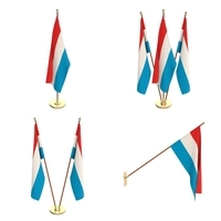 Luxemburg Flag Pack 3D Model