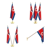 North Korea Flag Pack 3D Model