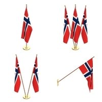 Norway Flag Pack 3D Model