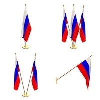 Russia Flag Pack 3D Model