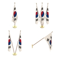 South Korea Flag Pack 3D Model