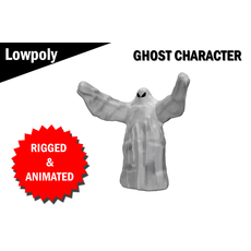 Ghost  Rigged and Animated VR / AR / low-poly 3D Model