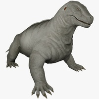 Moschops Animated 3D Model