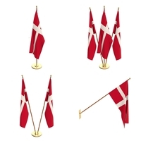Denmark Flag Pack 3D Model