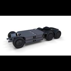 Tesla Semi Truck Chassis 3D Model