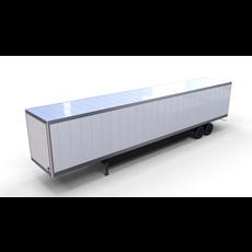 Box Semi Trailer 3D Model