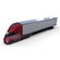 Tesla Truck with Chassis Interior and Trailer Red 3D Model