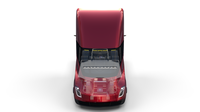 Tesla Truck with Chassis and Interior Red 3D Model