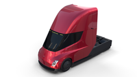 Tesla Semi Truck Red 3D Model