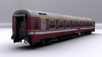 Train car 1 - Game ready 3D Model