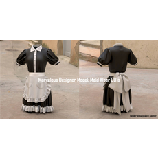 Marvelous Designer Model: Maid Wear 001a 3D Model