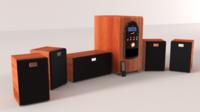 Genius Surround System 3D Model