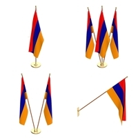 Armenia Flag Pack 3D Model
