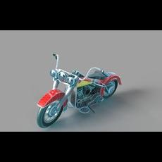 Harley Motorbike Vintage 3D Model