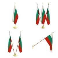Bulgaria Flag Pack 3D Model