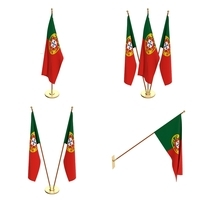 Portugal Flag Pack 3D Model