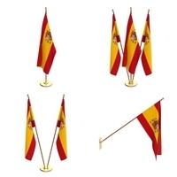 Spain Flag Pack 3D Model