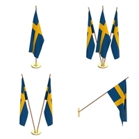 Sweeden Flag Pack 3D Model