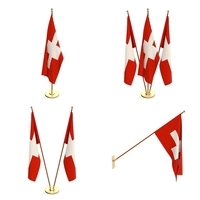 Switzerland Flag Pack 3D Model
