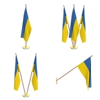 Ukraine Flag Pack 3D Model