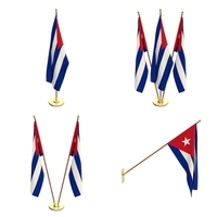 Cuba Flag Pack 3D Model