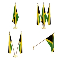 Jamaica Flag Pack 3D Model
