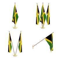 Jamaica Flag Pack 3D Model