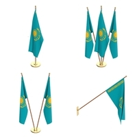 Kazachstan Flag Pack 3D Model