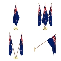 New Zealand Flag Pack 3D Model