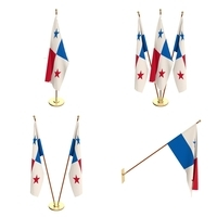 Panama Flag Pack 3D Model