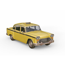 Old taxi 3D Model