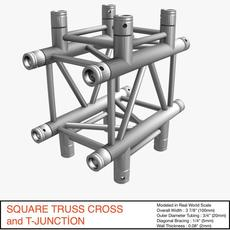 Square Truss Cross and T- Junction 31 3D Model