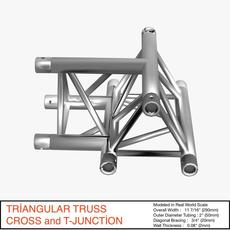 Triangular Truss Cros and T Junction 84 3D Model