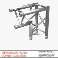 Triangular Truss Corner Junction 107 3D Model