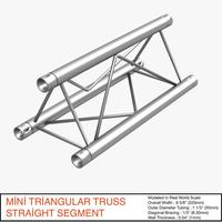 Mini Triangular Truss Straight Segment 111 3D Model