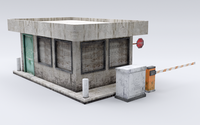 Guard Booth 3D Model