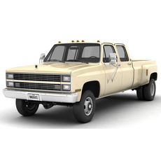 GENERIC 4WD DUALLY PICKUP TRUCK 6 3D Model