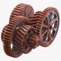 Rusted Mechanism 3D Model