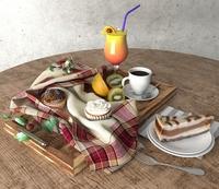 Food and Beverage Set 3D Model
