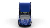 Tesla Truck with Chassis and Interior Blue 3D Model