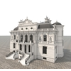 European Style Villa 3D Model