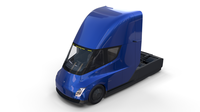 Tesla Truck with Interior Blue 3D Model