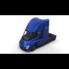 Tesla Truck with Interior Blue 3D Model