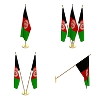 Afghanistan Flag Pack 3D Model