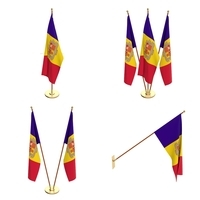 Andorra Flag Pack 3D Model