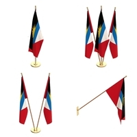 Antigua and Barbuda Flag Pack 3D Model