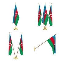 Azerbaijan Flag Pack 3D Model