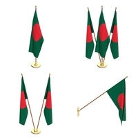 Bangladesh Flag Pack 3D Model